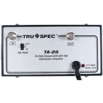 TA-25 Pico Macom Tru Spec UHF-VHF-FM 25dB Distribution Amplifier - front view