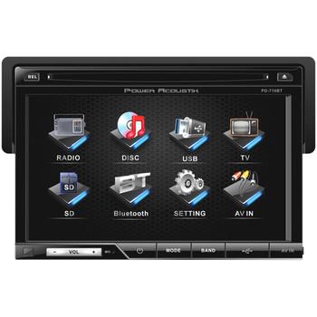 """Power Acoustik PD-710B Car DVD Player - 7"""" Touchscreen LCD - 68 W RMS - Single DIN - Detachable Front Panel"""