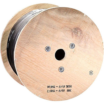 Monoprice 1000ft RG6 (18AWG), Quad Shield, CL2 Bulk Cable - Black