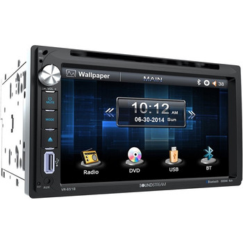 """Soundstream VR-651B Car DVD Player - 6.5"""" Touchscreen LED-LCD - Double DIN"""