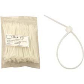 Unirise 6in Nylon Cable Tie 40lbs Clear 100pk