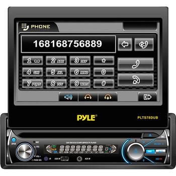 "Pyle PLTS78DUB Car DVD Player - 7"" Touchscreen LCD - Single DIN - Detachable Front Panel"