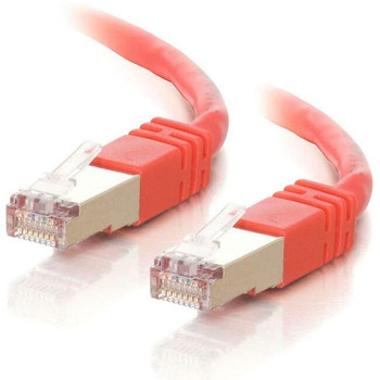 C2G-3ft Cat5e Molded Shielded (STP) Network Patch Cable - Red