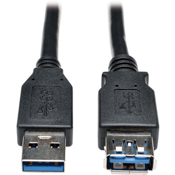 Tripp Lite USB 3.0 SuperSpeed Extension Cable - USB-A to USB-A, M/F, Black, 3 ft. (0.9 m)