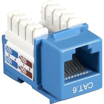 Black Box CAT6 Value Line Keystone Jack, Blue, 10-Pack