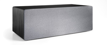 Audioengine B2 Premium Bluetooth Speaker (Black Ash) - Front with grill