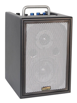 Sunburst Gear M1R3 3 Channel Mixer/Monitor Compact Portable All-In-One Rechargeable Battery Powered PA Speaker System - front side view
