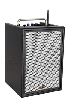 Sunburst Gear M3BR8 Three Channel Mixer/Monitor Portable All-‐in-‐One Rechargeable Bluetooth PA Speaker System-front side view