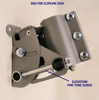 DIRECTV BAU4R2 Fine Tuning Back Assembly for Slimline Dish (4 Pack - BAU-4PKv2) installed view