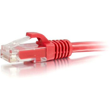 C2G-100ft Cat6 Snagless Unshielded (UTP) Network Patch Cable - Red