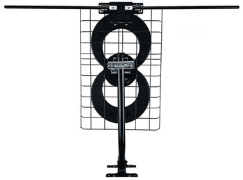 Antennas Direct C2-J30-V Clearstream 2V Long-Range HDTV Antenna with J-Mount - rear view of antenna