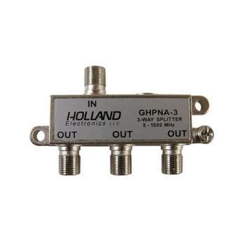Holland Electronics GHPNA-3 IPTV Broadband Coaxial Splitter - AT&T U-Verse approved