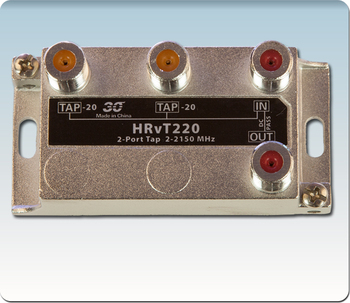Sonora HRvT220 High Performance 20 dB Vertical Tap 2-Port 2-2400 MHz