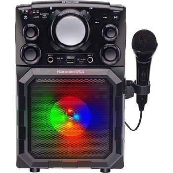 Karaoke USA GQ410 Portable MP3 Karaoke Player with Bluetooth, PA and Built-In Battery