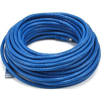 Monoprice Cat5e 24AWG UTP Ethernet Network Patch Cable, 50ft Blue