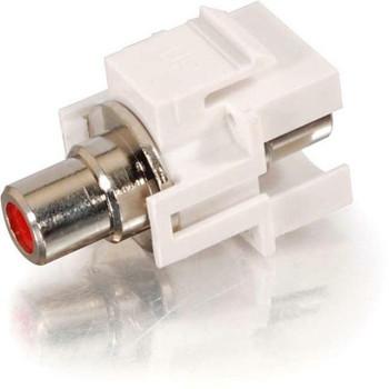 C2G Snap-In Red RCA F/F Keystone Insert Module - White