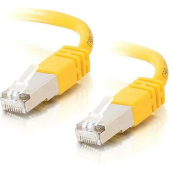C2G-5ft Cat5e Molded Shielded (STP) Network Patch Cable - Yellow