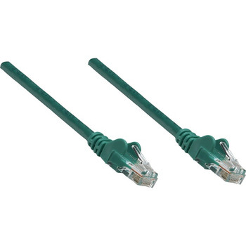 Intellinet Network Solutions Cat5e UTP Network Patch Cable, 10 ft (3.0 m), Green