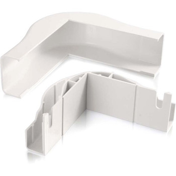 C2G Wiremold Uniduct 2900 Bend Radius Compliant External Elbow - White