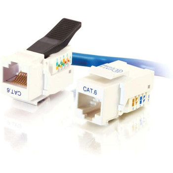 C2G Cat6 RJ45 UTP Toolless Keystone Jack - White