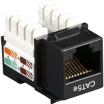 Black Box CAT5e Value Line Keystone Jack, Black 25-Pack