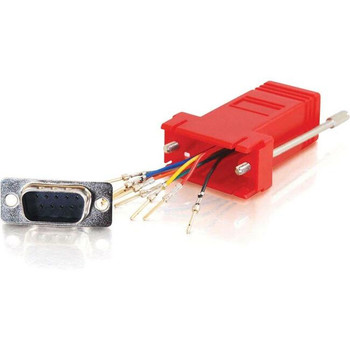 C2G RJ45 to DB9 Male Modular Adapter - Red