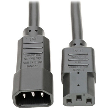"""Tripp Lite 18in Power Cord Extension Cable C14 to C13 Heavy Duty 15A 14AWG 18"""""""