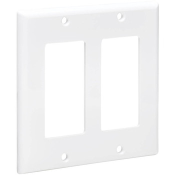 Tripp Lite Double-Gang Faceplate, Decora Style - Vertical, White