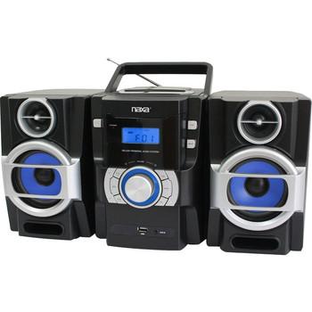 Naxa NPB-429 Mini Hi-Fi System - 16 W RMS - iPod Supported - Black