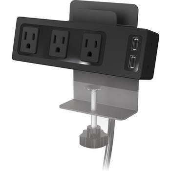 MooreCo Clamp Mount Outlet & USB Charger