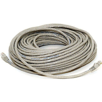 Monoprice 100FT 24AWG Cat6 500MHz Crossover Bare Copper Ethernet Network Cable - Gray