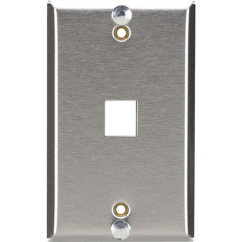 Black Box Wallplate for Mounting Wall-Style Telephone - Stainless Steel