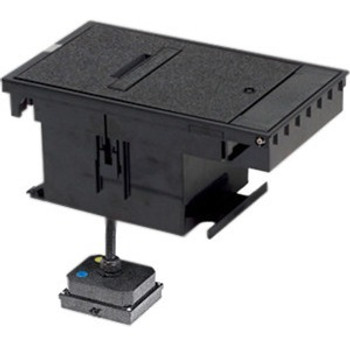 Wiremold Outdoor Ground Box 2-Gang, 20A Duplex Receptacles, Black