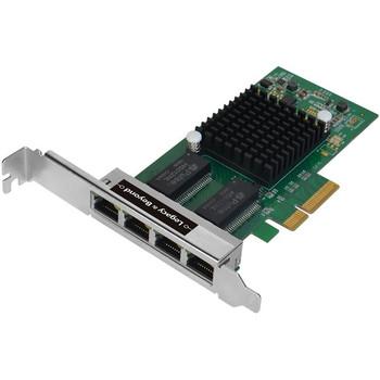 SIIG Quad-Port Gigabit Ethernet PCIe 4-Lane Card - I350-T4