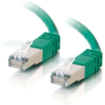 C2G-3ft Cat5e Molded Shielded (STP) Network Patch Cable - Green