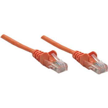 Intellinet Network Solutions Cat5e UTP Network Patch Cable, 10 ft (3.0 m), Orange