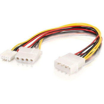 C2G 10in One 5-1/4in to One 3-1/2in with One 5-1/4in Internal Power Y-Cable