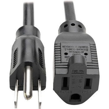 Tripp Lite 10ft Power Cord Extension Cable 5-15P to 5-15R 10A 18AWG 10'