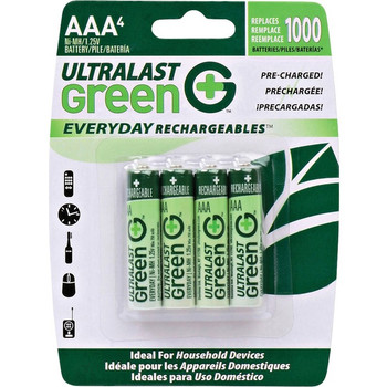 NABC Everyday Rechargeables ULGED4AAA General Purpose Battery
