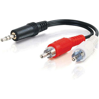 C2G 6in Value Series One 3.5mm Stereo Male To Two RCA Stereo Male Y-Cable