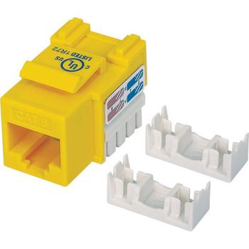 Intellinet Network Solutions Cat6 Keystone Jack, UTP, Punch-Down, Yellow