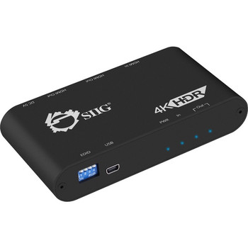SIIG 1x2 HDMI 2.0 Splitter / Distribution Amplifier with Auto Video Scaling - 4K 60Hz HDR