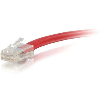 C2G-3ft Cat6 Non-Booted Unshielded (UTP) Network Patch Cable - Red