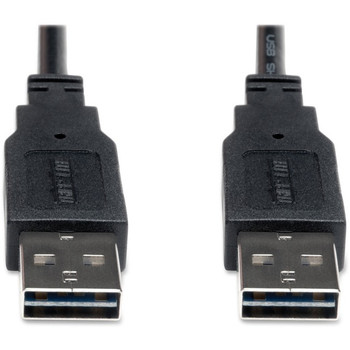 Tripp Lite 10ft USB 2.0 High Speed Reversible Connector Cable Universal M/M