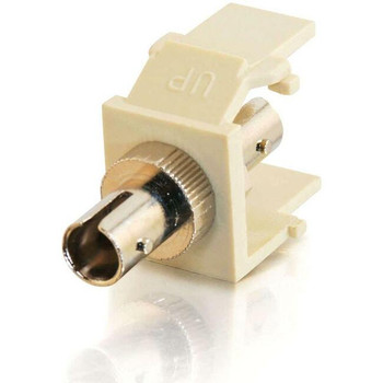 C2G Snap-In ST Fiber F/F Keystone Insert Module - Ivory