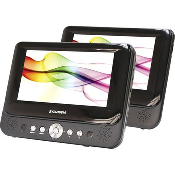 "Sylvania SDVD8737A Car DVD Player - 7"" - 16:9 - Black"