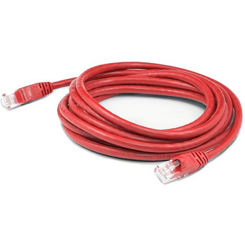 AddOn 5ft RJ-45 (Male) to RJ-45 (Male) Straight Red Cat5e UTP PVC Copper Patch Cable
