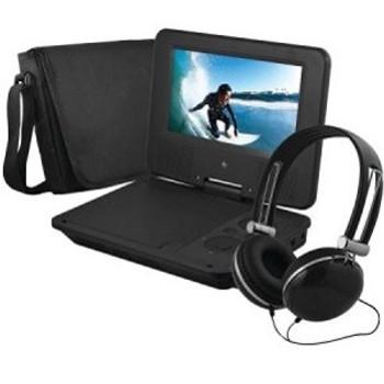 "Ematic EPD707BL Portable DVD Player - 7"" Display - 480 x 234 - Black"