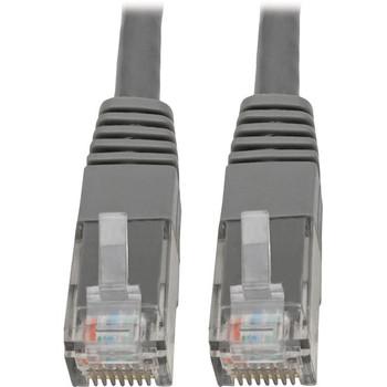 Tripp Lite Cat6 Cat5e Gigabit Molded Patch Cable RJ45 M/M 550MHz Gray 10ft
