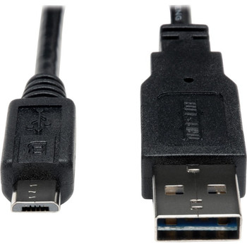 Tripp Lite 1ft USB 2.0 High Speed Cable 28/24AWG Reversible A to 5Pin Micro B M/M
